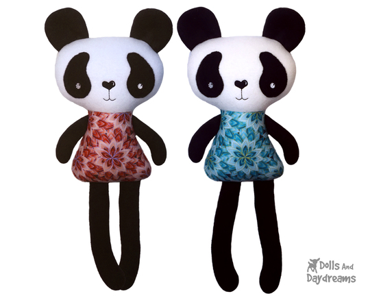 Embroidery Machine ITH Big Panda Pattern