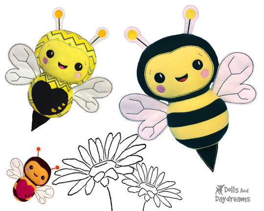 embroidery-machine-Bumble Bee -pattern